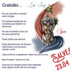 23 de Abril, Salve! São Jorge/Ogum