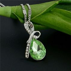 necklace 2015 raises the water drop wedding jewelry crystal pendant necklace long striking for women Jewelry Necklaces