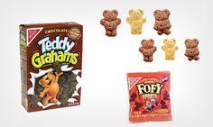 Eu amava essa bolacha!!! Sempre presente nas lancheiras das crianças nos anos 90, os biscoitos Fofys (da Nabisco), que tinham formato de ursinho e sabor de chocolate, eram deliciosos. Eles existem até hoje nos Estados Unidos com o nome de Teddy Grahams Cookies