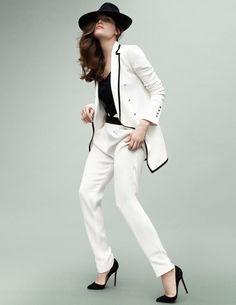 Tuxedo jacket in Vogue Paris