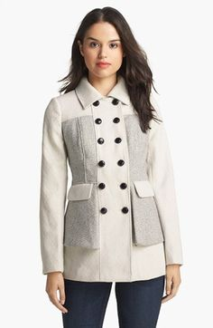 kensie Double Breasted Peplum Coat available at #Nordstrom