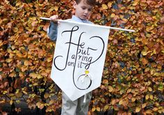 The ring bearer provides the perfect opportunity to add a dash of humor to a wedding, as you never know what little boys will do!