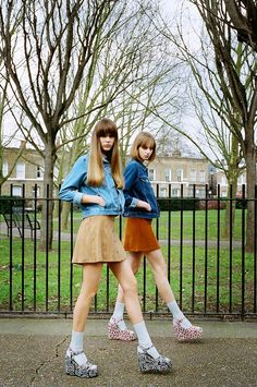 Lugg, jeansjacka, kjol, platåskor = <3