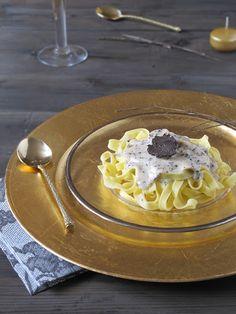 Pasta fresca con salsa de trufa negra. Receta. To be Gourmet | Recetas de cocina, gastronomía y restaurantes.