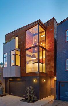 SteelHouse 1 and 2 / Zack   de Vito Architecture. © Bruce Damonte