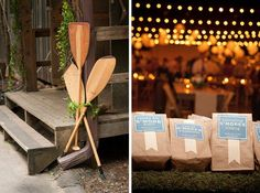 Paddle decor and s'more kits