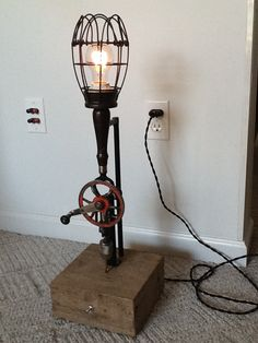 Hand drill dimmable lamp