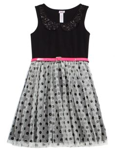 Sparkle Dot Dress | Girls Dresses Clothes | Shop at Justice! The best store ever