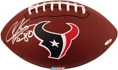 Andre Johnson Autographed Houston Texans Logo Football