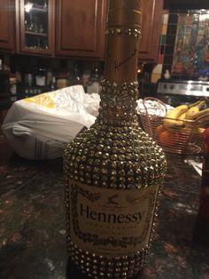 Bling Hennessy bottle