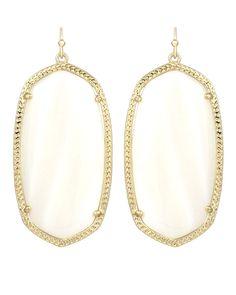 Danielle Statement Earrings in White Pearl - Kendra Scott Jewelry #kendrascott #teamKS