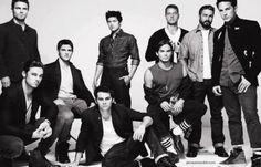 Stephen Amell (Arrow), Jay Ryan (Beauty & The Beast), Steven R. McQueen (Vampire Diaries), Justin Hartley (Emily Owen, MD) and Michael Trevino (Vampire Diaries) in Bullett Magazine