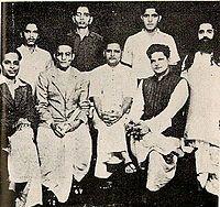 November 15, 1949– Nathuram Godse and Narayan Apte are executed for assassinating Mohandas Gandhi.    A group photo of people accused in the Mahatma Gandhi murder case. Standing: Shankar Kistaiya, Gopal Godse, Madanlal Pahwa, Digambar Badge (Approver). Sitting: Narayan Apte, Vinayak D. Savarkar, Nathuram Godse, Vishnu Karkare    True Hindus....