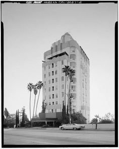 Sunset Tower Apartments, Los Angeles, California  Historic Photo