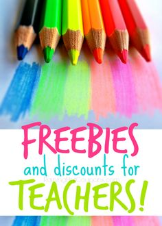 Free Stuff for Teachers Sponsored Link  Repin It Here Below is a huge list of freebies and discounts for Teachers! Thank you so much to all you wonderful Teachers out there, we all really appreciate you. These are freebies for your classroom and to treat yourself! Teacher Discounts: AC Moore – Teachers receive 15% off …