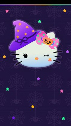 Hello Kitty Iphone Wallpaper, Hello Wallpaper, Cartoon Wallpaper Hd, Hello Kitty Backgrounds, Halloween Wallpaper Iphone, Halloween Backgrounds, Kawaii Wallpaper, Sanrio, Melody Hello Kitty