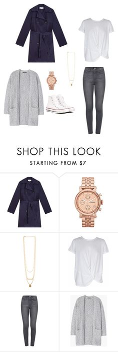 """""""Casual workday"""" by carro87 ❤ liked on Polyvore featuring Gérard Darel, FOSSIL, MINKPINK, Paige Denim, MANGO and Converse"""