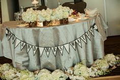 ♥ Angela + Adam ♥ #sweethearttable #headtable #wedding