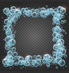shampoo frame of realistic water bubbles Vector Art, Picture Frames, Shampoo, Bubbles, Illustration, Water, Portrait Frames, Gripe Water, Picture Frame