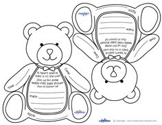 Blank Printable Teddy Bear Invitations Coolest Free
