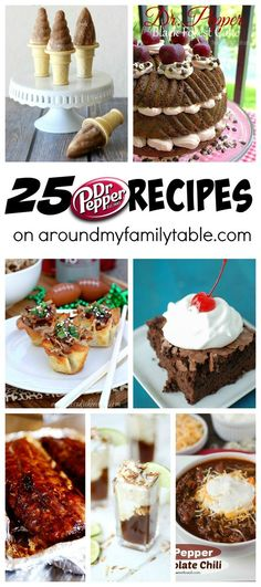 There's a reason why Dr Pepper is so popular! These 25 Dr Pepper Recipes are here to show you just how versatile your favorite soda can be!