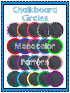 $ #Chalkboard Circles #Clip Art
