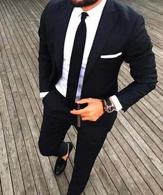 well dress gentleman // urban men // mens suit // black // watches // city life // boys // luxury life // mens fashion // http://www.koogal.com.au/