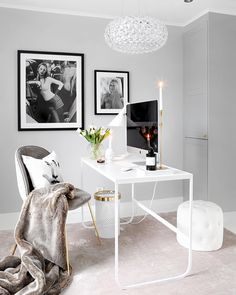 writing spaces, home office inspiration. Cozy Home Office, Home Office Space, Home Office Design, Home Office Decor, Home Decor, Office Ideas, Office Inspo, Desk Office, Office Setup
