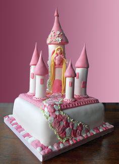 Fairy Tale Princess Castle Birthday Cake. www.coppertopcake...