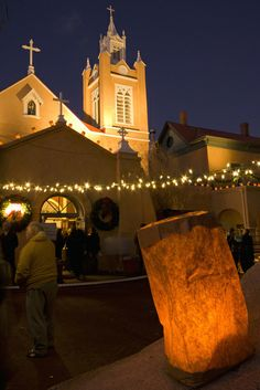 Christmas in Old Town Albuquerque, New Mexico - my grandparents lived here while I was growing up