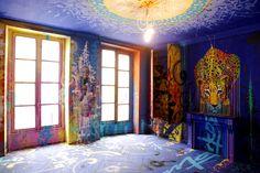 apart-3e-etage-loftdu34-marko-93-photo-nicolas-giquel Grand Format, Oeuvre D'art, Les Oeuvres, Images, Loft, Painting, Universe, Parisian Apartment, Fine Art Paintings