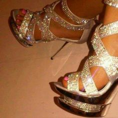 Bling. prom shoes all the way!!