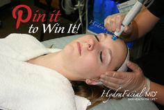 Now is your chance to win an exclusive spa day with a FREE HydraFacial™! Your day at the spa will also include complimentary HydraFacial™ items, such as a robe and a HydraFacial™ Daily Essentials™ Kit! Make sure to like our Facebook page and start following us on Pinterest and then re-pin this for your entry! Share your post on Facebook for a chance at additional entries!