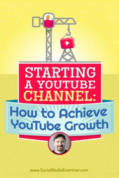 Tim Schmoyer talks with Michael Stelzner about how to build and grow a YouTube channel.