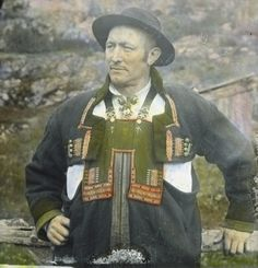 Traditional outfit from Setesdal Digitalt Museum - Setesdal. Mikkel Grot. 63 aar.