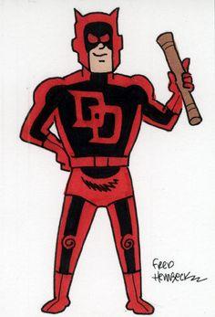 Fred-Hembeck-Color-Sketch-Card-Daredevil-Marvel-1-1
