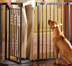 This handsome pet product offers walk-through convenience for you, so you can place this pet gate anywhere in your home.