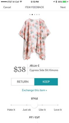 Like this kimono! I love the color combo in it. Try Stitch Fix https://www.stitchfix.com/referral/11307962?som=c&sod=i