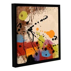 """Langley Street Cross Roads II Framed Painting Print on Wrapped Canvas Size: 18"""" H x 18"""" W x 2"""" D"""