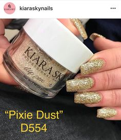 Kiara Sky Dip Powder Swatch Pink Glitter Tahitian