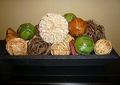 DIY Home decor balls made from natural materials