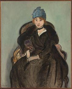 Marguerite Wearing a Hat  by Henri Matisse, 1918.