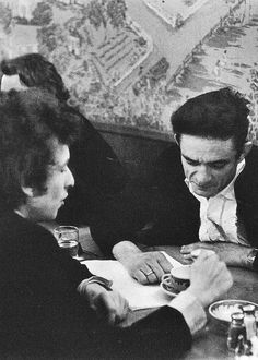 I would love to hear this conversation. Bob Dylan and Johnny Cash