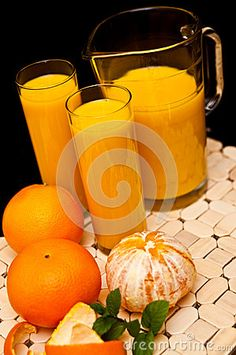 Orange Juice With Glasses - Download From Over 52 Million High Quality Stock Photos, Images, Vectors. Sign up for FREE today. Image: 39466568