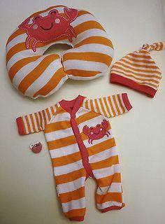 "OOAK Baby Doll Mini Reborn Tiny Miracle Micro Preemie Sleeper Boppy for 10-11"""