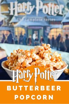 This Harry Potter Butterbeer Popcorn is a snack inspired by our favorite books and the perfect treat for any fan or a Harry Potter movie marathon! Harry Potter Movie Characters, Harry Potter Movie Quotes, Harry Potter Desserts, Harry Potter Treats, Harry Potter Food, Harry Potter Recipes, Best Vanilla Cupcake Recipe, Vanilla Cupcakes, Harry Potter Marathon