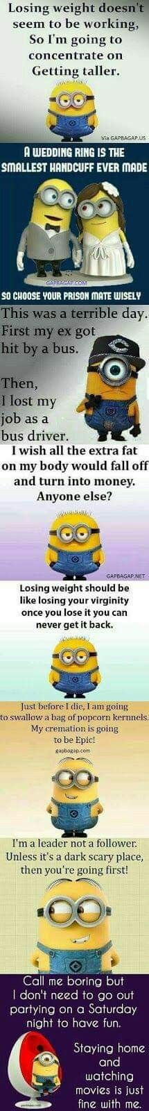 Super Funny Pictures Of Girls Hilarious Minions Quotes Ideas Funny Minion Memes, Minions Quotes, Crazy Funny Memes, Jokes Quotes, Funny Jokes, Minions Minions, Hilarious Sayings, Quotable Quotes, Wisdom Quotes
