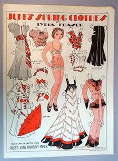 ART Deco Magazine Paper Doll Joan'S Spring Clothes BY Lydia Fraser 1937 | eBay