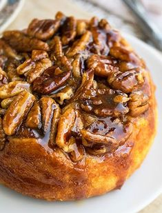 Chocolate Whipped Cream Layer Cake is a Delicious and Cooling Summer Dessert Caramel Pecan Sticky Buns Prep Time 15 Mins Cook Time 30 Mins Total Time 45 Mins Homemade, Easy Caramel Pecan Sticky Buns Recipe, Made With Simple Ingredients From Scratch. Pecan Cinnamon Rolls, Pecan Rolls, Cinnamon Pecans, Pecan Recipes, Caramel Recipes, Bread Recipes, Pecan Sticky Buns, Sweet Roll Recipe, Recipes