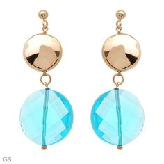 Made in Italy Stylish Earrings With Simulated gems Made of 14K/925 Gold plated Silver. Total item weight 15.4g Length 56mm Unknown. $64.00. Save 81% Off!